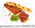 grilled pork ribs 49688106