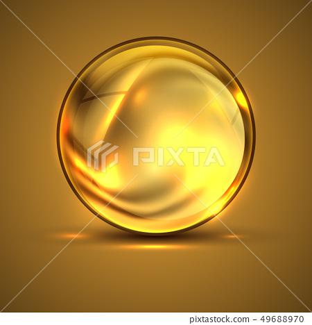 3d sphere.Golden shiny vibrant color.Fluid texture 49688970