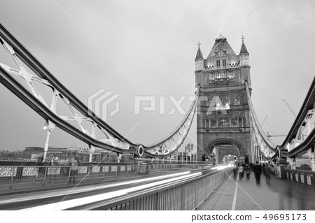 Tower Bridge in black and white 49695173