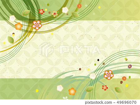 绿色日式图案 49696070