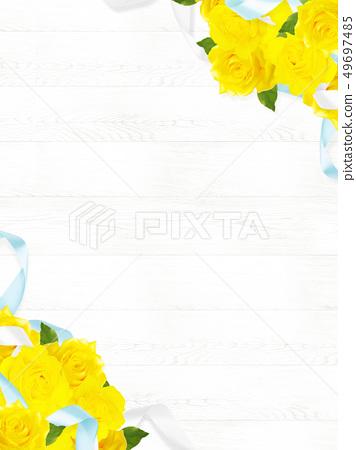 พื้นหลัง - กุหลาบ - สีเหลือง - วันพ่อ - ผนังสีขาว 49697485
