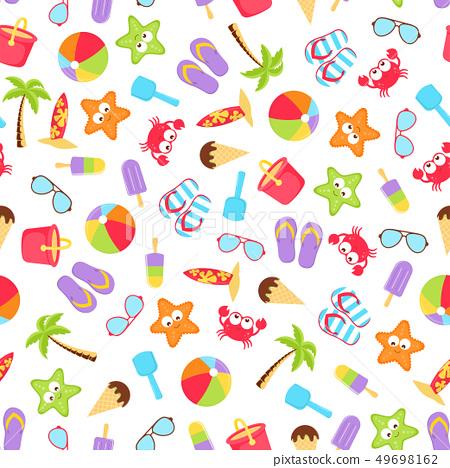 summer time beach holiday seamless 49698162