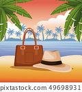 海滩 夏天 夏 49698931