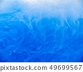 Blue paint in water, close up view. Abstract 49699567