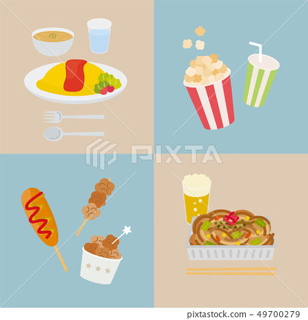 Japanese food (omelet rice, stall menu) 49700279
