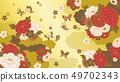 日本样式花背景 49702343