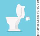 White toilet flat style 49702610