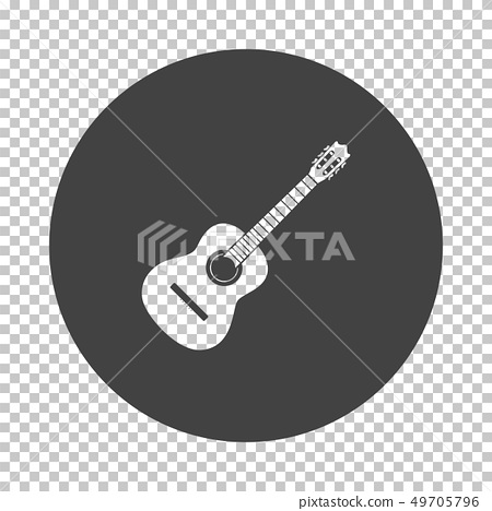 Acoustic guitar icon 49705796