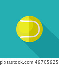 Tennis ball flat icon 49705925