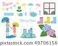 Illustration set of the rainy season 49706156