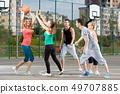 ball, basketball, court 49707885