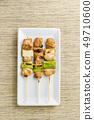 烤雞肉串三個大蔥 49710600