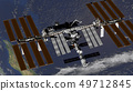 International Space Station ISS revolving over 49712845