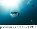 Underwater global problem with plastic rubbish 49713911