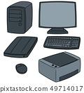 vector set of computer equipment 49714017