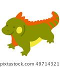 Iguana without outline 49714321