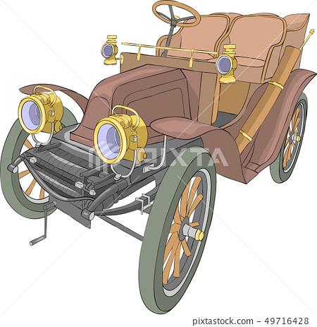 Vector. Old car convertible. 49716428