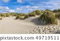 Coastal landscape with sand dunes 49719511