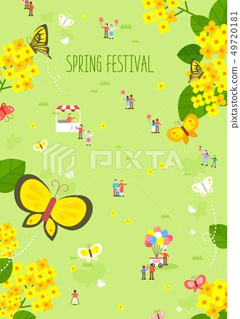 春天花節日例證 49720181
