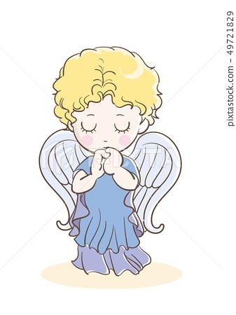 禱告孩子/天使的圖像 49721829