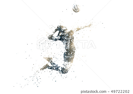 volleyball abstract silhouette 1 bitmap ver. 49722202