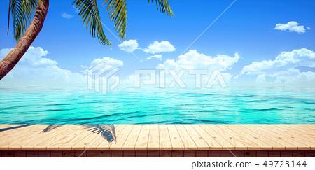鮮豔細緻的全景景觀圖鳥瞰圖:太陽能發電廠(高分辨率 3D CG 渲染∕著色插圖) 49723144