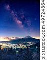 """絕妙的觀點""""富士山和銀河系 49724864"""