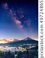"""絕妙的觀點""""富士山和銀河系 49724865"""