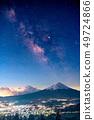 """絕妙的觀點""""富士山和銀河系 49724866"""