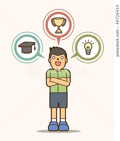 Child ambition dream, education sign vector 49726433