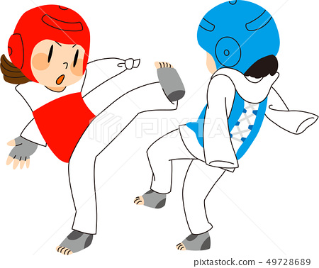 Parasport taekwondo illustration 49728689