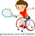 파라 스포츠 휠체어 테니스 일러스트 49728693