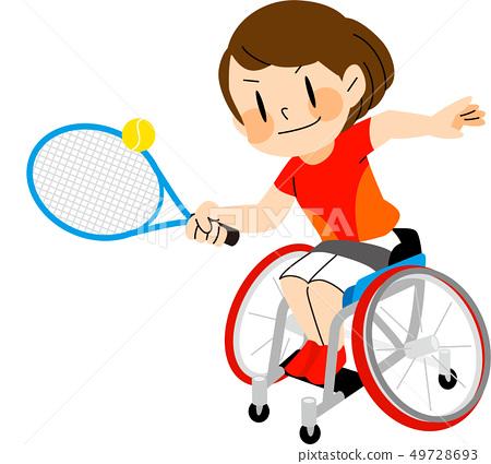 Parasport輪椅網球例證 49728693