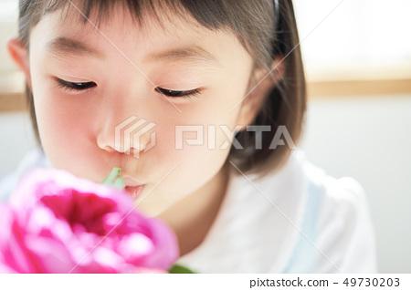 女孩儿童肖像 49730203