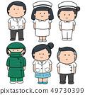 vector set of medical staff 49730399