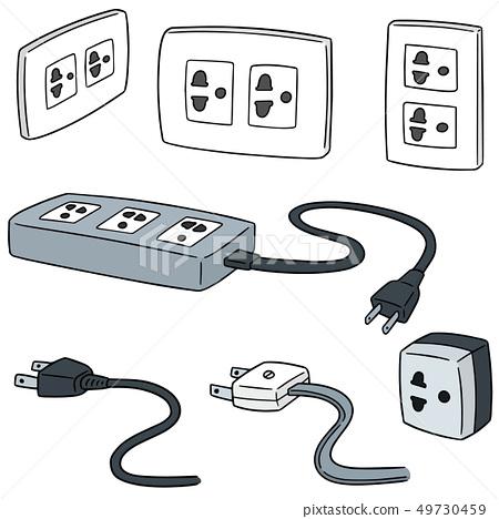 vector set of plugs 49730459