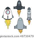 vector set of space ship 49730479
