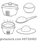 vector set of rice 49730483