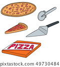 vector set of pizza 49730484