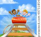 Kids on Roller Coaster 49731854