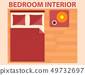 bedroom interior icon on flat design style 49732697