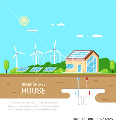 Energy efficient house 49746925