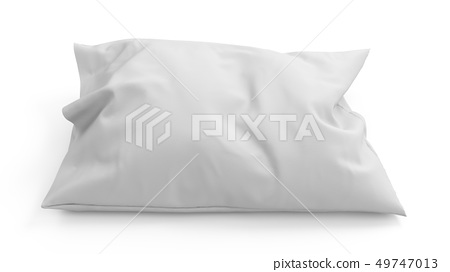 3D rendering pillow isolated on white background 49747013