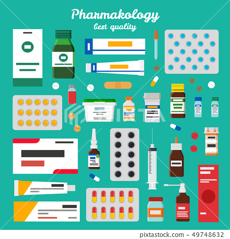 Pharmacology Best Quality Vector Illustration 49748632
