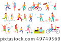 Active Relaxation Vector Illustration on White 49749569
