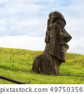 in chile  the antique and mysteriuos  statue 49750356