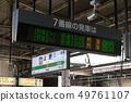 JR東,上野站的目的地表示招牌, 49761107