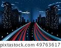 Night City Road Panorama 49763617