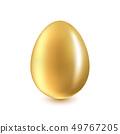 Golden Egg on a white background 49767205