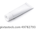 Blank metal cosmetic tube 49782793